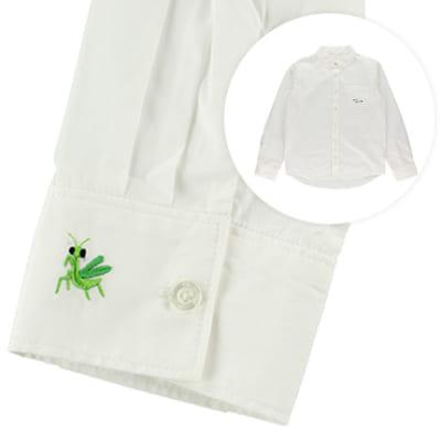インセクトコレクション 袖口刺繍メンズシャツ