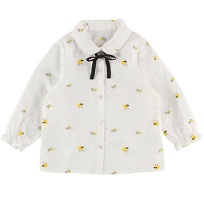 インセクトコレクション 総柄刺繍シャツ【はちちゃん】