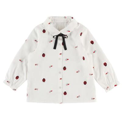 インセクトコレクション 総柄刺繍シャツ【てんとうむしちゃん】