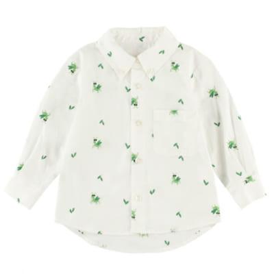 インセクトコレクション 総柄刺繍シャツ【かまきりくん】