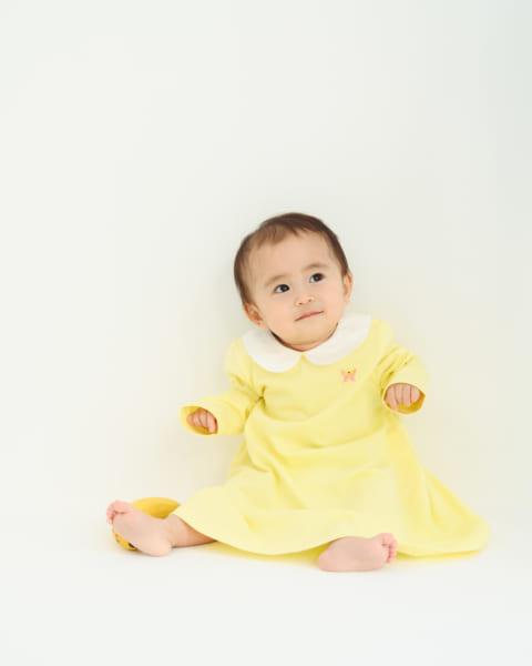丸襟刺繍ワンピース ちょうちょちゃん 3,270円