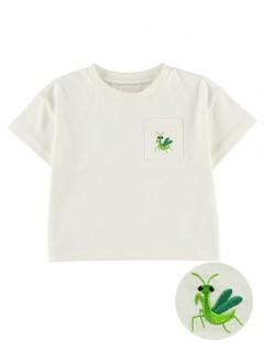 かまきりくん刺繍ポケットTシャツ