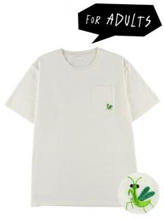 大人もかまきりくん刺繍ポケットTシャツ