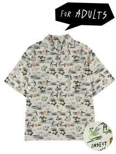 大人も昆虫集合アロハシャツ