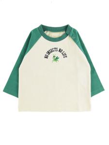 インセクトコレクション NO INSECT NO LIFE かまきりくん刺繍ラグラン長袖Tシャツ