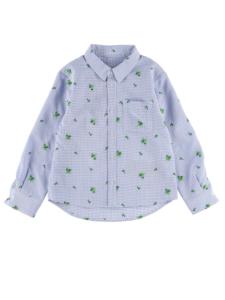 インセクトコレクション アイロン要らずな速乾ギンガムかまきりくんシャツ キッズ