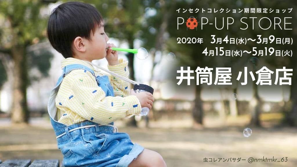 井筒屋 小倉店 インセクトコレクション期間限定ショップ 開催!