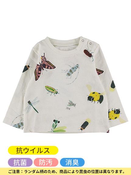 ランダム昆虫大集合長袖Tシャツ